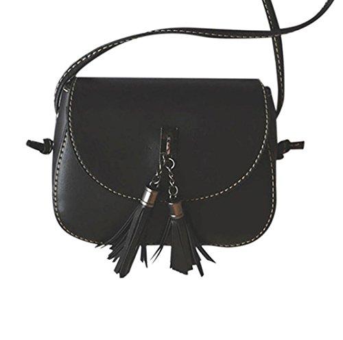 Imagen de esailq mujeres de cuero  bolsas bolsos de hombro para las niñas negro