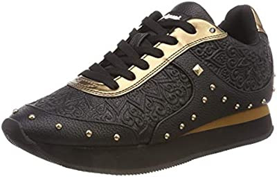 Desigual Shoes_Galaxy Winter Valkiria, Zapatillas para Mujer, Negro (Negro 2000),