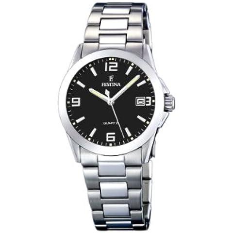 FESTINA F16377/4 - Reloj de mujer de cuarzo, correa de acero inoxidable color plata
