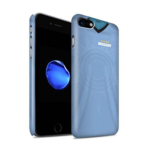 Stuff4® Matte Snap-On Hülle/Case für Apple iPhone 7 / Uruguay/Uruguayer Muster/Weltmeisterschaft 2018 Fußball Trikot Kollektion - Uruguay Wm