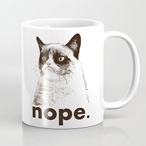 Grumpy Cat Nope tazze perfetto regalo divertente Sarcastic da figlia Caffè per le donne Tazza tazze in ceramica regalo tazza tè, caffè, cacao tazza da caffè 11oz