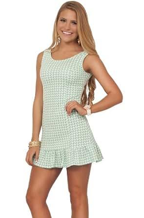 Juniors Party Jersey Stretch Knit Sleeveless Open Back Printed Ruffle Mini Dress