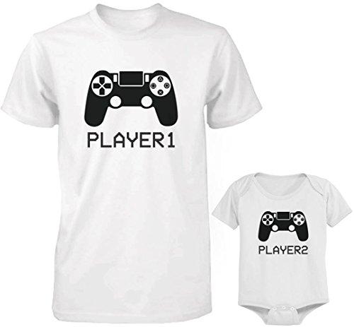 365 Printing Daddy y Bebé a Juego Camiseta y Onesie Set–Reprodu