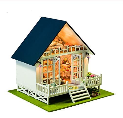 ölzernes Puppenhaus Möbel Kits Spielzeug Handgemachte Fertigkeit Miniatur Modell Kit Puppenhaus Geschenk Spielzeug Für Kinder ()