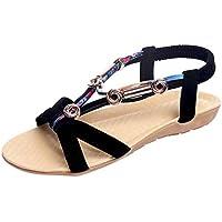 Sandalias Romanas Mujer Zapatillas de Estar por Casa Dedo del Pie Rome Zapato Métallique Doradas Correa Trasera 2019 Tacon Mujeres