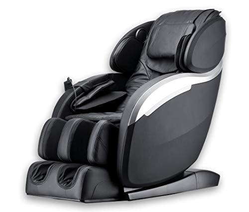 Luxus Massagesessel Deluxe V2 Zero Gravity Leder schwarz mit Rollentechnik Massage + Heizung +...