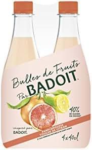 BADOIT Bulles de Fruits Pamplemousse Touche de Citron 4 x 40 cl