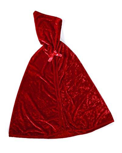Trullala Rotkäppchen-Cape, Rotkäppchen-Umhang, Faschingskostüm Größe: M (4-6 Jahre) (Mantel Halloween Roter)