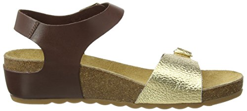 Hush Puppies - Tease Soothe, Sandali Donna Multicolore (Brown/Light Gold)