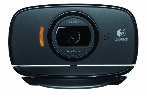 Logitech C525 Webcam 8 MP 1280 x 720 Pixels USB 2.0 Noir - Webcams (8 MP, 1280 x 720 Pixels, 640x480@30fps, 360p,480p,720p, 8 MP, 69°)