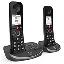 BT Advanced Cordless Home Phone with 100 Percent Nuisance Call Blocking and Answering Machine, Twin Handset Pack, Black
