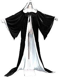 ad0e43e2cbc2f Cape à Manches Longues Cape à Capuchon Longue Velvet Adulte Unisexe  Déguisement Costume Halloween