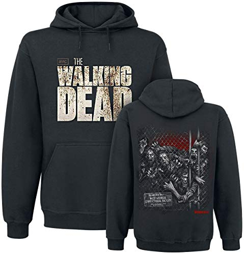 The Walking Dead Walkers Fence Sudadera con capucha Negro