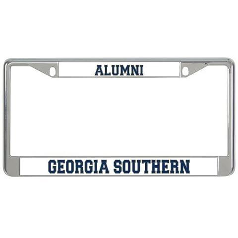 IMG Georgia Southern Metal License Plate Frame in Chrome Alumni / Georgia Southern
