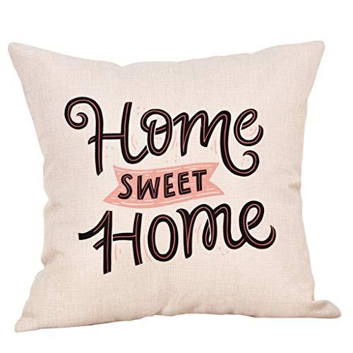 OPAKY Sweet Home Cotton Linen Square Dekokissen Cases Home Decor Sofakissenbezug