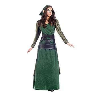 490a7ea3f805 Elbenwald Verde Foresta Costume da Elfo Donna 2tlg Vestito e Cappello  Scozzese per Carnevale U Carnevale  Amazon.it  Abbigliamento