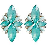 69cb637b3110 1 par de flores elegante de las mujeres pendientes del Rhinestone Lovely  Girl aleación anillos de