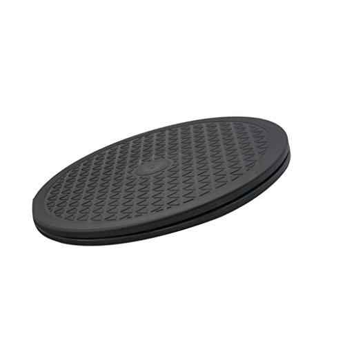 MagiDeal Runde 360 Grad Drehende Standplatz Drehteller Geeignet für Notebook , Computer - schwarz - 25cm