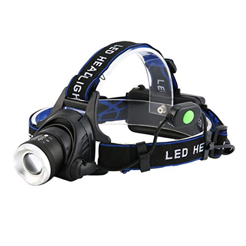 Aluminum 2000 Lumens XM-L T6 LED Beads 18650 Zoomable Zoom Out Headlamp Headlight Night Torch for Camping