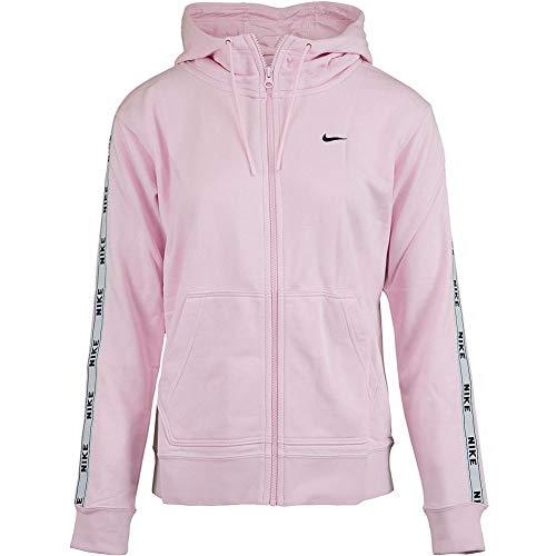 Nike Sportswear Full-Zip Hoodie Sudadera, Mujer, Rosa (Pink Foam/White/Black), M