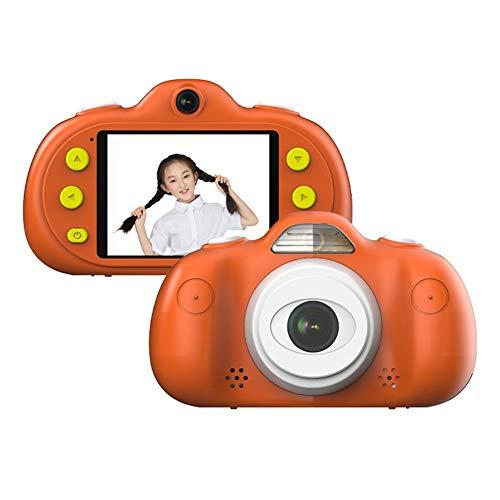 Kinder Kamera Mini wiederaufladbare Digitalkamera Kinder Anti-Drop-Shockproof Design 2,4-Zoll-Bildschirm Digital Camcorder mit 8MP DSLR Dual Lens wasserdichte Kamera Kinder Geschenk (Color : Orange) Dslr, Dual Lens