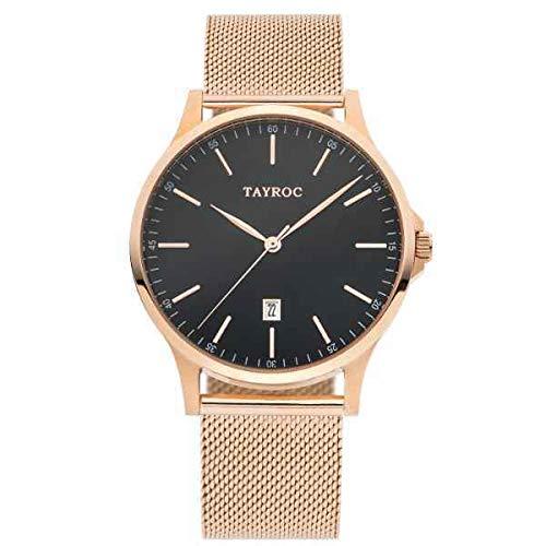 Tayroc Classic Rose Black Mesh horloge TXM109