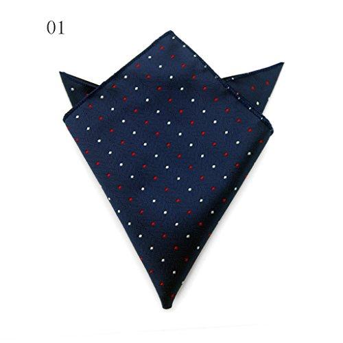 ZJM Mouchoir Pocket Square Premium Satin mouchoir 15 couleurs à choisir carrée Hanky ( Couleur : #15 ) #01