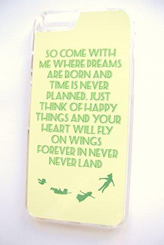 Peter Pan Never Citation du Pays Imaginaire (iPhone 6/6S 11,9cm en plastique rigide transparent coque/housse/)