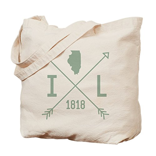 CafePress Illinois Arrows Tragetasche, canvas, khaki, S - Arrow Khaki