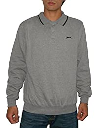 SLAZENGER hommes High Quality Thermal Sport Long Sleeve Polo Sweater