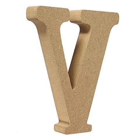 Ligneous Woody en bois lettres A-Z lettres de l'alphabet Mariage