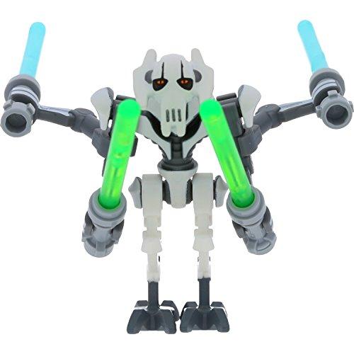 LEGO Star Wars Minifigur General Grievous aus Set 75040 incl. 4 GALAXYARMS Schwert