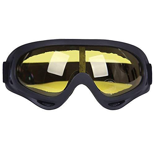 Kottle Occhiali da sci esterno antivento con protezione UV, occhiali di sicurezza occhiali CS esercito militare tattico occhiali di guida del motociclo (Giallo)