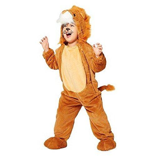 Lion Löwe Kinder Baby Halloween Fasching Karneval Kostüm Plüsch Faux Fell Pelz Overall (92/98) (Lion Baby Halloween Kostüme)