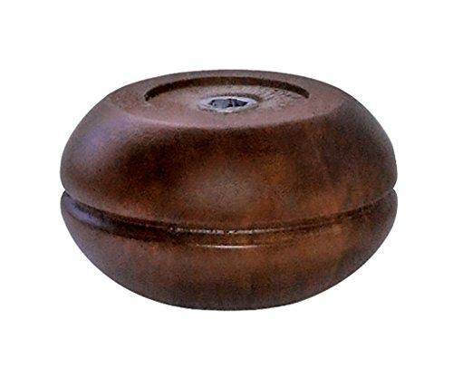 Home System 67877 Holzfuß, Zwiebelform, Durchmesser: 95, Höhe: 50 mm, Walnuss (Holz Credenza)