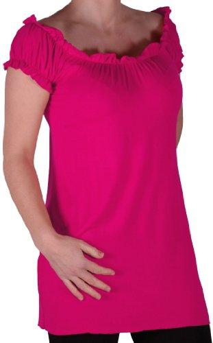 Eyecatch TM - Tunique tombant sur les épaules style bohémienne - Nikita - Femme - Plusieurs Tailles et Couleurs Fuchsia