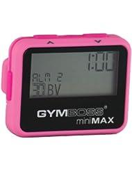 Gymboss miniMAX Minuteur d'intervalle et chronomètre – Coque rose/rose softcoat