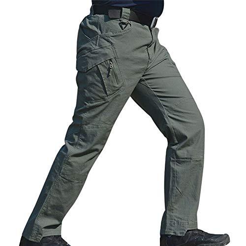 Eamqrkt Pantalones Largos Impermeables Trabajo Hombres