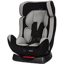 Play Scout - Silla de coche grupo 0+/1/2 (0 - 25 kg), color negro y gris