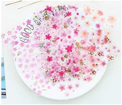 RFGTYBDD Adorable 6 Feuilles Sakura Stickers Pack de de de Récompense Stickers Craft Étiquette de Codage pour Scrapbook (Rose) 4976ad