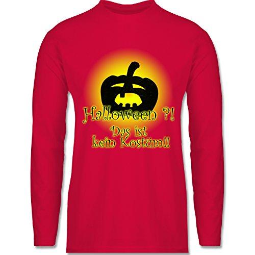 Shirtracer Halloween - Kein Halloweenkostüm - Herren Langarmshirt Rot