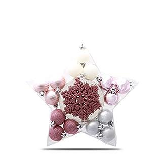 Musewanna Bolas de Navidad de Adornos Navideños para Arbol Decoración de Bolas de Navidad Plástico Regalos de Colgantes de Navidad 24Piezas