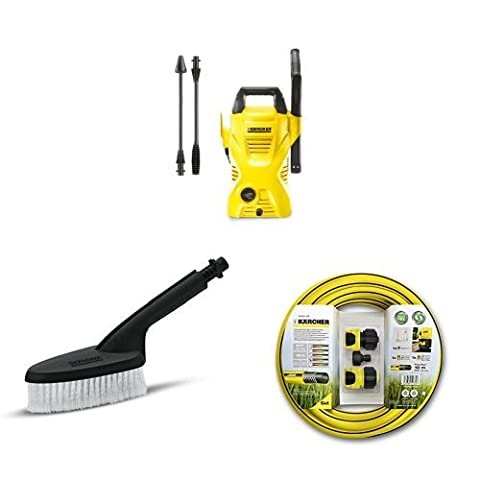 Kärcher K2 Compact Pressure Washer with Hose Connection Set For Pressure Washers and Universal