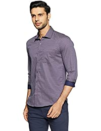 John Miller Men's Printed Slim Fit Cotton Dress Shirt
