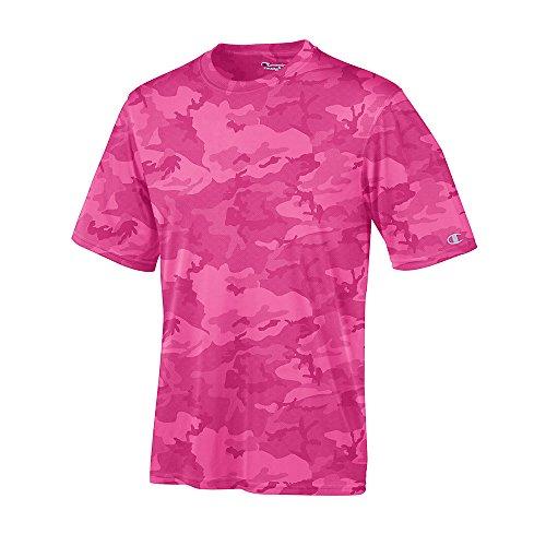 Champion - Maglietta sportiva - Maniche corte  -  uomo - Wow Pink Camo