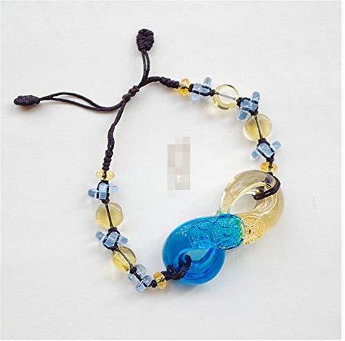 fb6fde222cdb Suerte Mopec Decorativas Pulsera Pulseras Hombres Y Mujeres Joyas De Mano  Retro Personalidad Regalo Creativo.