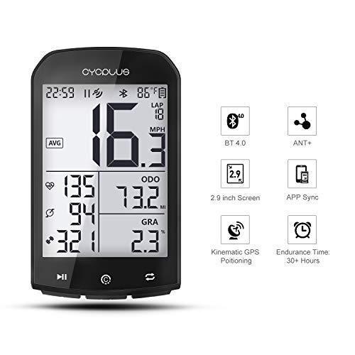 CYCPLUS GPS Computadora de Bicicleta Velocímetro y odómetro Ant + Computadora de...
