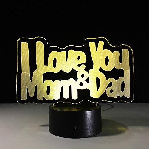 LLXPDZ 3D Nachtlicht Led Lampe Beste Geschenk Für Eltern Großhandel Persönlichkeit Kreative Geschenke Licht Dekor