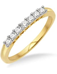 Miore MP9010RM Diamond Eternity Ring, 9 ct Yellow Gold