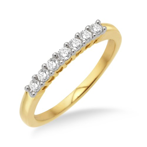 Eternity Ring, 9ct Yellow Gold Diamond Eternity Ring, 1/4 carat Diamond Weight, Size N, by Miore, SA902RO